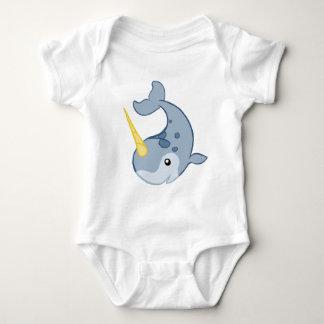 Cute Narwhal Baby Bodysuit