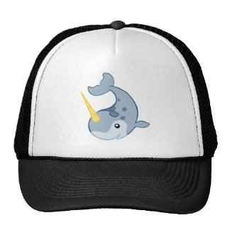 Cute Narwhal Trucker Hats