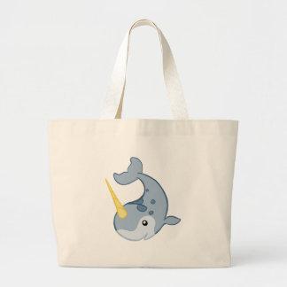 Cute Narwhal Jumbo Tote Bag