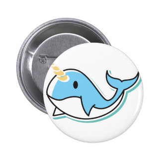 Cute Narwhal Pinback Button