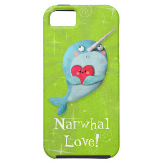 Cute Narwhal with Heart iPhone SE/5/5s Case