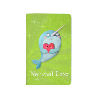 Cute Narwhal with Heart Journal