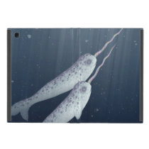 Cute Narwhals Swimming Together Underwater iPad Mini Case