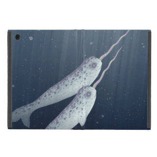 Cute Narwhals Swimming Together Underwater iPad Mini Covers