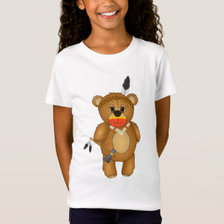 Cute Native American Indian Teddy Bear Cartoon T-Shirt