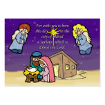 Cute Nativity Scene Large Business Cards (Pack Of 100)
