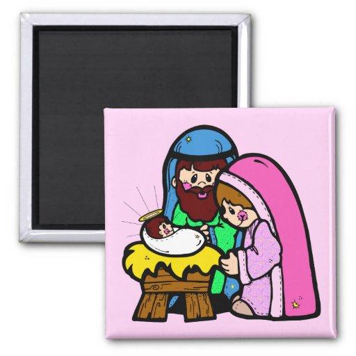 Cute Nativity Scene Refrigerator Magnets
