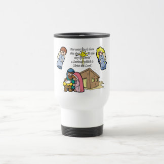 Cute Nativity Scene Travel Mug