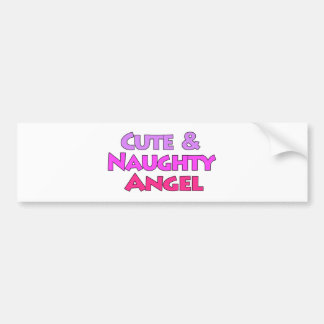 Cute & Naughty Angel fun pink design Bumper Sticker