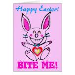 ♫☆♥Çütê Naughty Bunny HappyEaster Card๑¦☆♥♪ Card