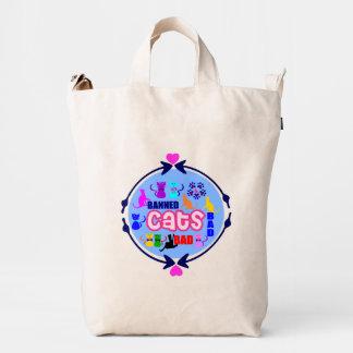 😻🐾↷❤Cute Naughty Cat Family Fabulous Tote Duck Bag