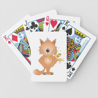 Cute Naughty Kitty Cat Cartoon and Friend Bicycle Playing Cards