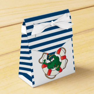 Cute Nautical Alligator Baby Shower Theme Favor Box