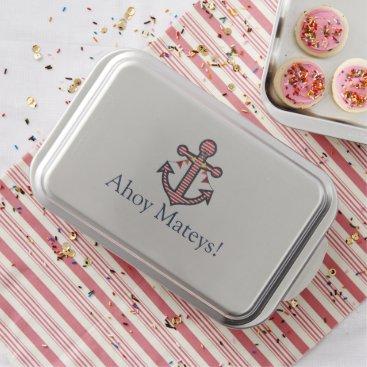 Beach Themed Cute Nautical Anchor Ahoy Mateys Party Cake Pan