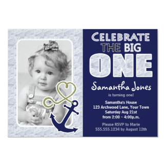 st birthday nautical invitations  announcements  zazzle, Birthday invitations