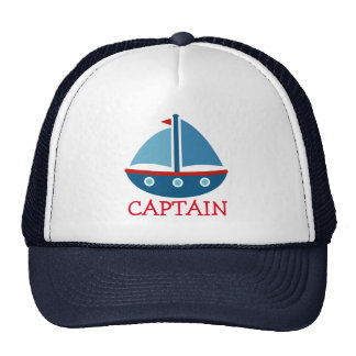 Cute nautical toy boat trucker hat for kids