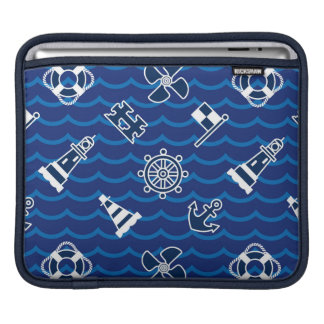 Cute Nautical Waves Pattern Sleeves For iPads