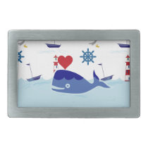 Cute Nautical Whale Belt Buckle