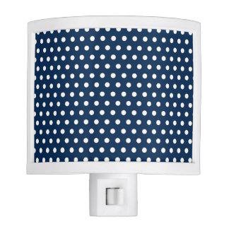 Cute Navy Blue and White Polka Dots Night Lights