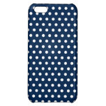 Cute Navy Blue and White Polka Dots iPhone 5C Cover