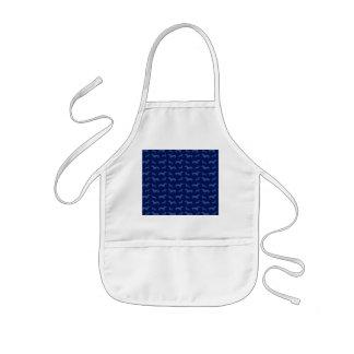 Cute navy blue dachshund pattern apron