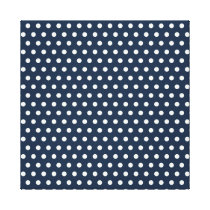 Cute Navy Blue White Tiny Little Polka Dots Gifts Canvas Print
