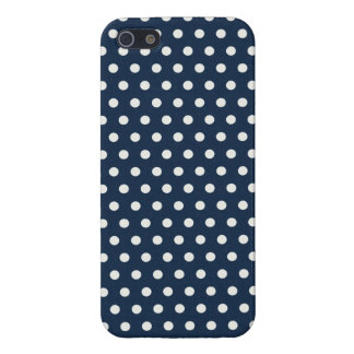Cute Navy Blue White Tiny Little Polka Dots Gifts Case For iPhone SE/5/5s