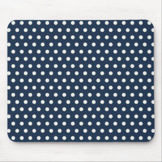 Cute Navy Blue White Tiny Little Polka Dots Gifts Mouse Pad