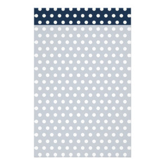 Cute Navy Blue White Tiny Little Polka Dots Gifts Stationery