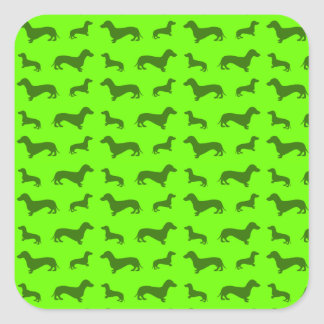 Cute neon green dachshund pattern stickers