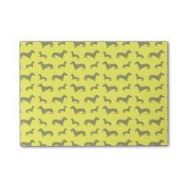 Cute neon yellow dachshund pattern post-it notes
