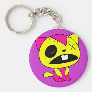 Cute Neon Zombie Kitty Cat Key Chains
