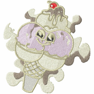 Cute Neopolitan Ice Cream Cone Character