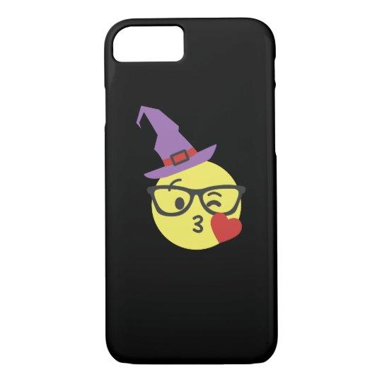 Cute Nerd Emoji In Witch Hat Halloween Gift Case-Mate iPhone Case