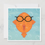 Cute Nerd Fish Kisses Card