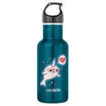 Cute Nerd Narwhal Water Bottle
