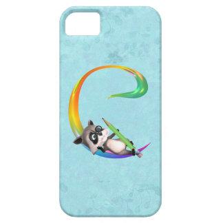 Cute Nerd Raccoon Monogram C iPhone SE/5/5s Case