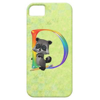 Cute Nerd Raccoon Monogram D iPhone SE/5/5s Case