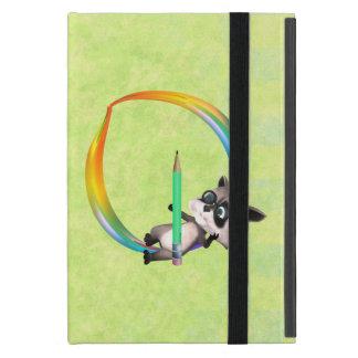 Cute Nerd Raccoon Monogram O iPad Mini Cover