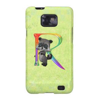 Cute Nerd Raccoon Monogram R Samsung Galaxy S2 Case