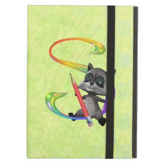 Cute Nerd Raccoon Monogram S iPad Air Case