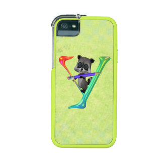 Cute Nerd Raccoon Monogram Y iPhone 5/5S Case