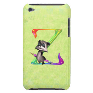 Cute Nerd Raccoon Monogram Z Case-Mate iPod Touch Case