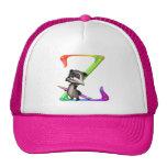 Cute Nerd Raccoon Monogram Z Trucker Hats