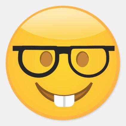 Cute Nerd With Glasses & Teeth Emoji Stickers