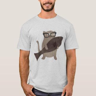 Cute Nerdy Cat T-shirt