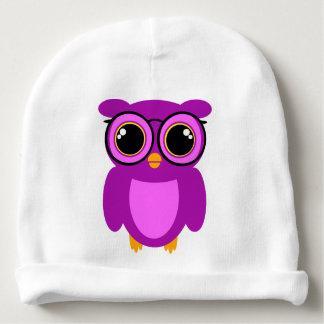 Cute Nerdy Owl Baby Beanie
