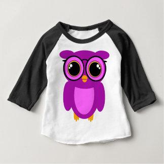 Cute Nerdy Owl Baby T-Shirt