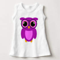 Cute Nerdy Owl Dress