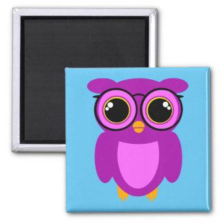 Cute Nerdy Owl Magnet
